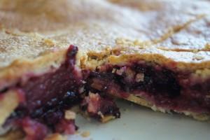 Apfel Brombeer Pie