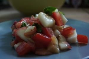 Pfirsischsalat
