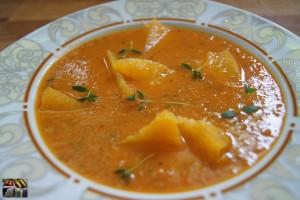 Tomaten Orangensuppe