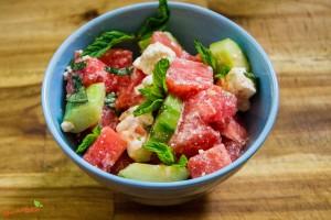 Wassermelonen Feta Salat 1