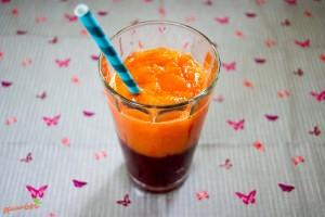 brombeer-papaya smoothie