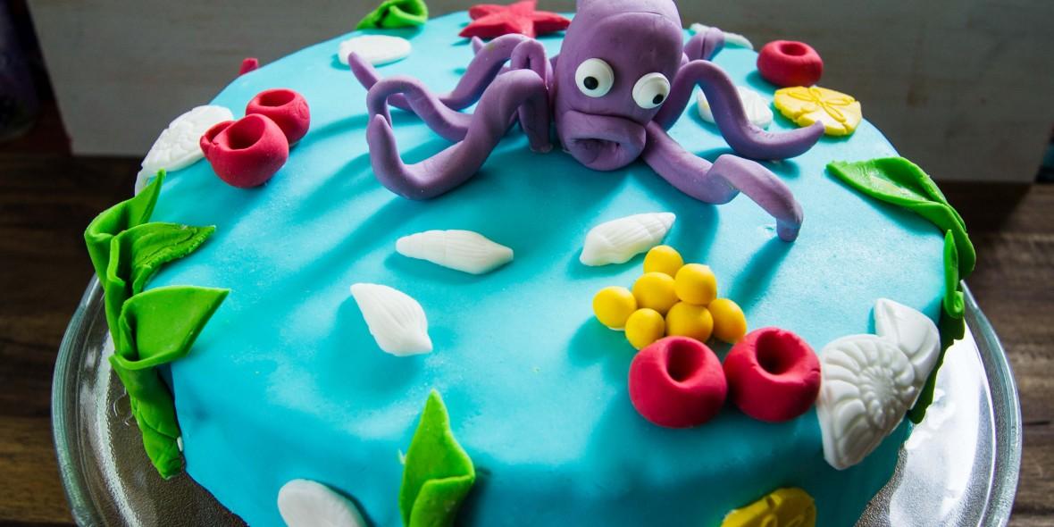 Kuchen deko unterwasserwelt