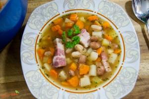 schnelle westfälische Bohnensuppe