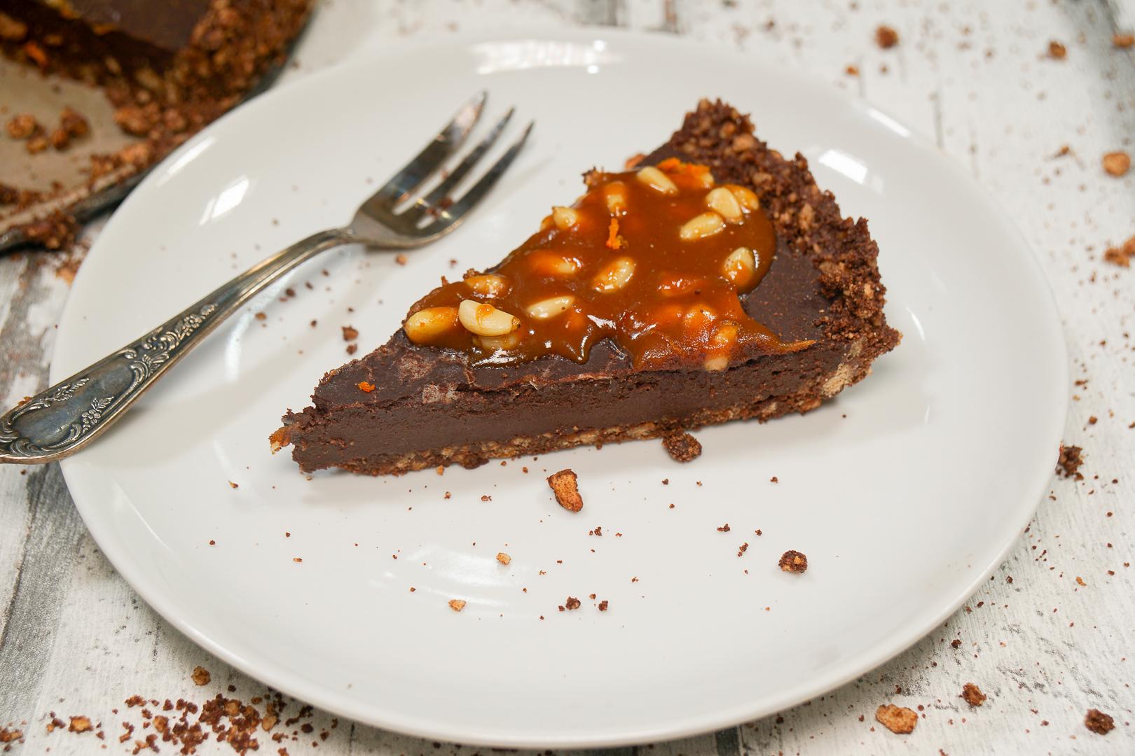 schokoladen karamell tarte nat rlich lecker. Black Bedroom Furniture Sets. Home Design Ideas